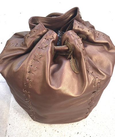 Choco Bronze Leather Bag
