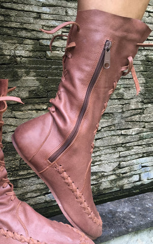 Chocolate Brown Ankle Boots for Pre Order