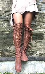 'Cognac' Knee High Boots