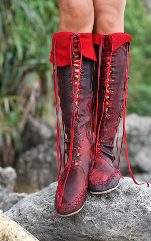 Flamenco Knee High Leather Boots