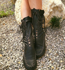 Black Leather Ankle Boots for Pre Order