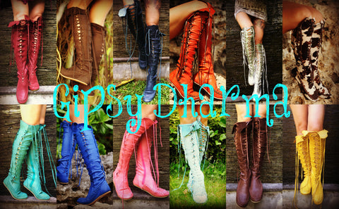 Gipsy Dharma Boots of the day Colourful Range