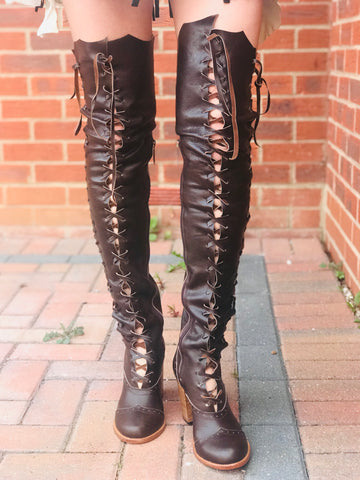 Victorian Gipsy Dharma knee high boots