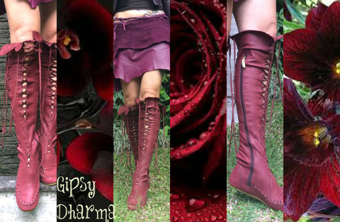 Maroon Ankle Boots