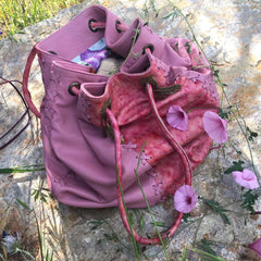 'Romance Never Dies' String Hand Bag and Rucksack