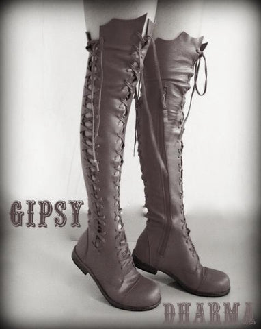 Clockwork Fairy Knee high Boots for Pre Order