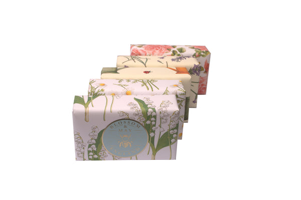 HAND MADE ENGLISH SOAP, GIFT PACK of 5 X 200g