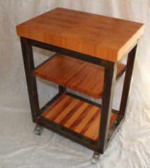 Island-- Old World Butcher Block w/casters