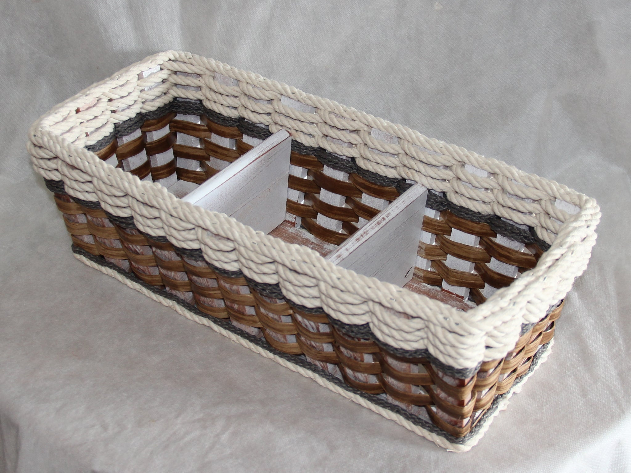 Tank Topper Basket-- Cottage Grey
