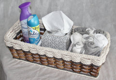 Tank Topper Basket--Grey Cottage