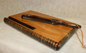 Cutting Board-- Farmhouse Mahogany Board with drip trail
