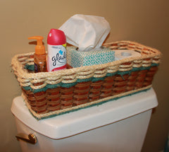 Tank Topper basket--Shabby Chic Collection