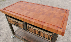 Island--Mobile Old World Mahogany End Grain 24x48