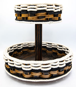 Double Lazy Susan-Cottage Black