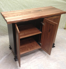 Island/table--24x48 Black Walnut/Distressed Black