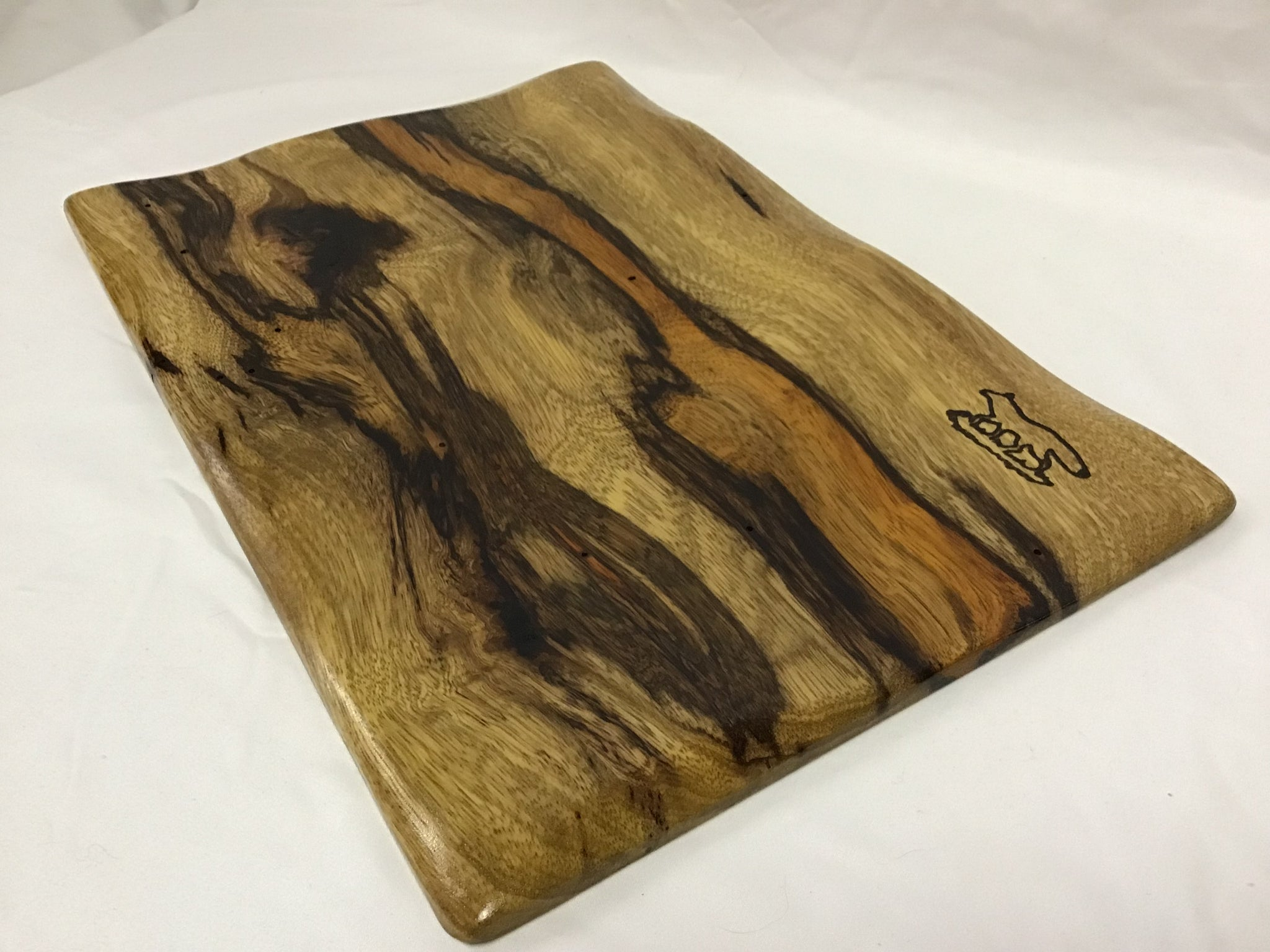 Charcuterie Board with Black Limba Wood