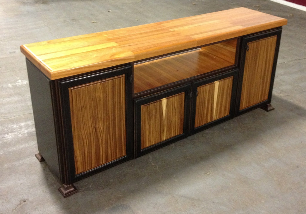 Table Mahogany/Zebra Wood Entertainment Unit 19 X 72
