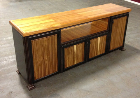 Table-Mahogany/Zebra Wood-Entertainment Unit 19 x 72