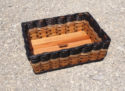 Shelf basket with angled sides