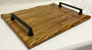 Charcuterie Board-Zebra Wood w/waned edge