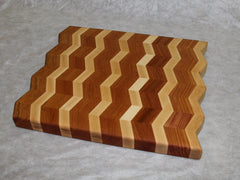 Cutting board--Maple/Mahogany Chevron