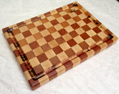 Cutting board---maple/mahogany end grain