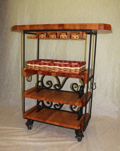Table--Small bar with casters