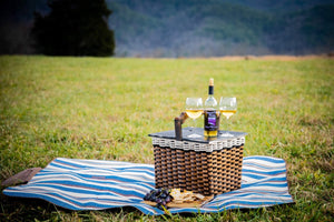 Lidded Picnic Basket Large-Cottage Black