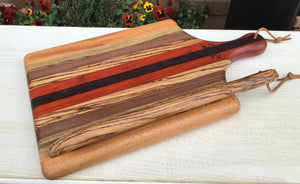 Cutting board--Stripes Board and Bow knife set