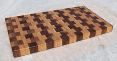Cutting board--black walnut and cherry end grain