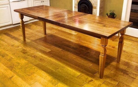 Table--30x96 Black Walnut Dining Room Table w/hickory legs