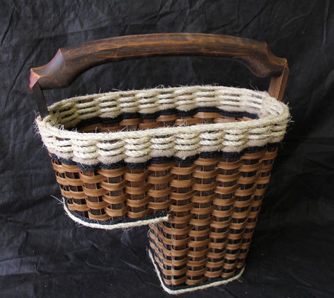 Shabby Chic Collection-- Step basket/distressed