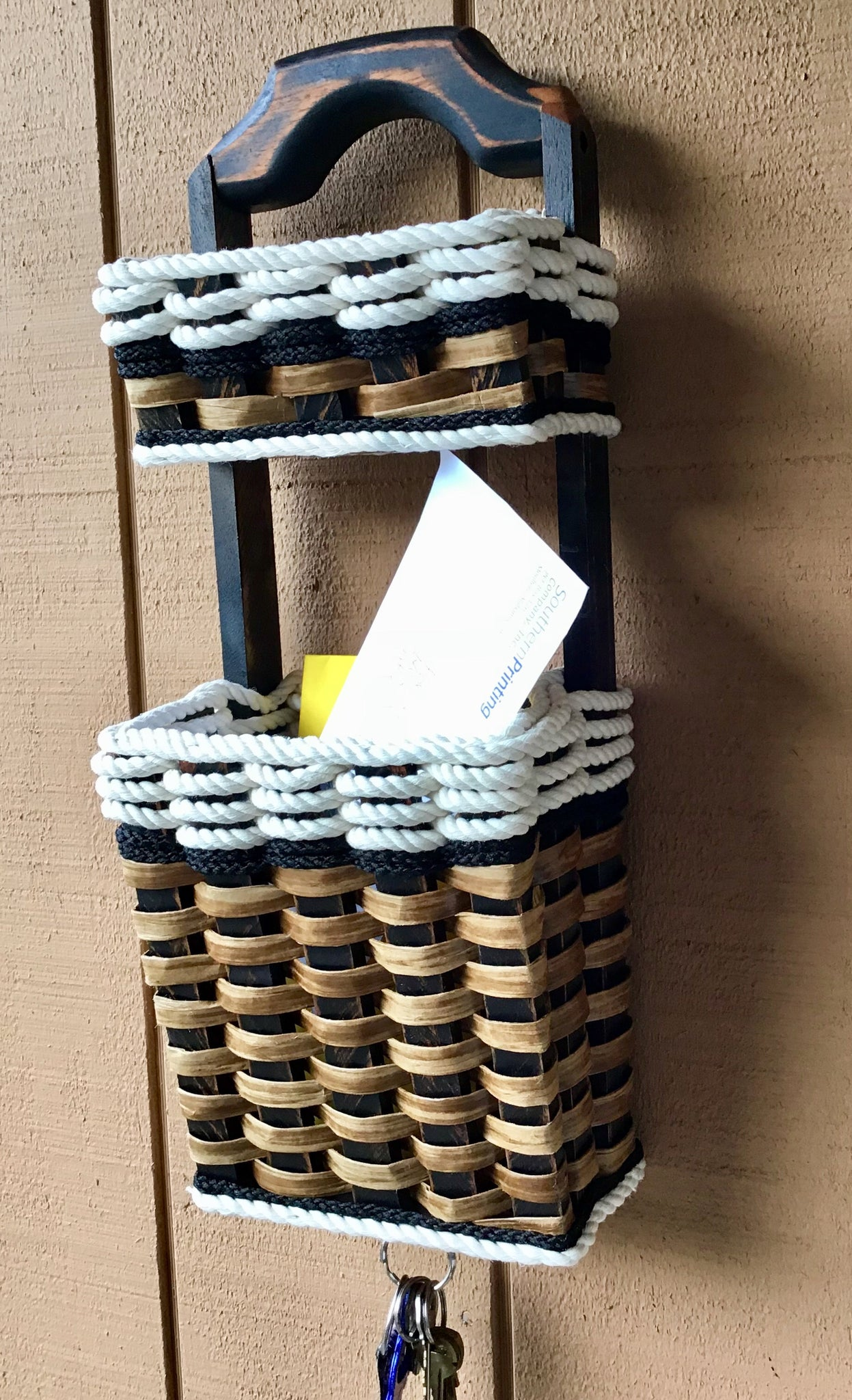 Wall Organizer Double Basket-Cottage Black