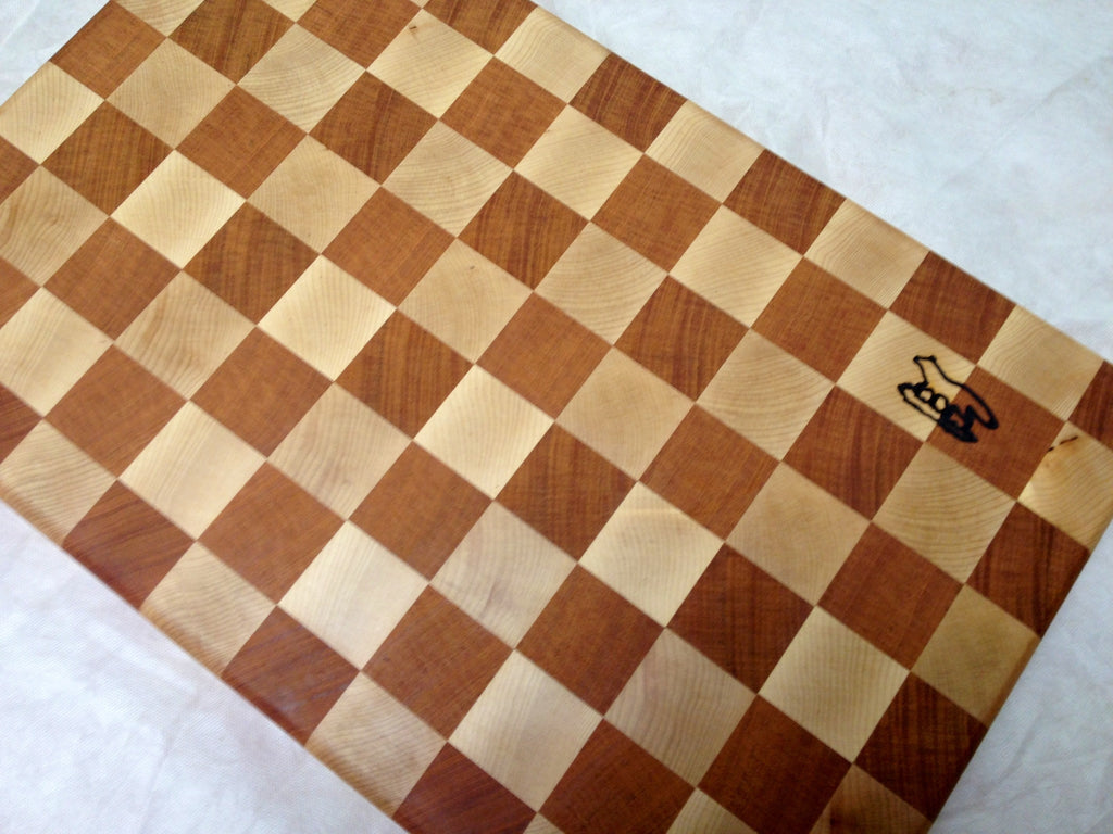 Cutting Board Maple Mahogany End Grain Foxcreek Baskets