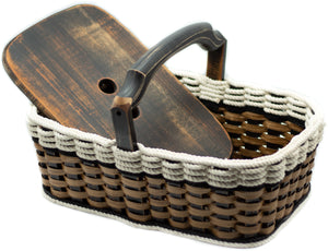 Double Casserole Basket-Cottage Black