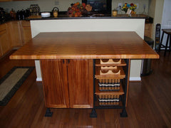 Table--60 x 60 Mahogany End Grain Butcher Block Table