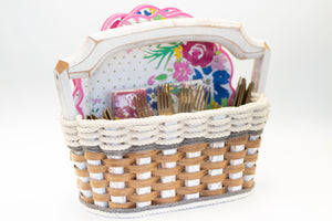 Picnic Party Basket-Cottage Grey