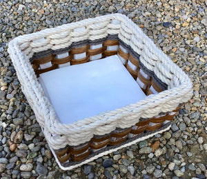 Napkin Basket-Cottage Grey