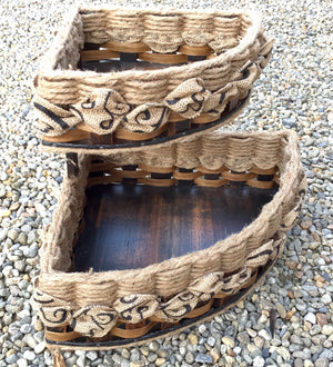 Double Corner Basket-Shabby Chic Collection