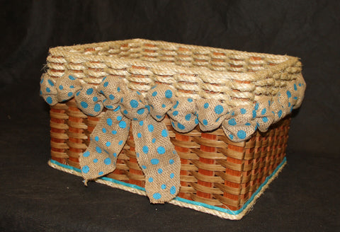 Shabby Chic Collection--Cubby Basket w/o flower