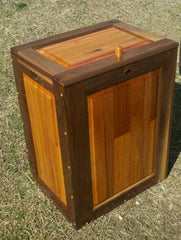 Dog/Cat Food Bin-black walnut and mahogany