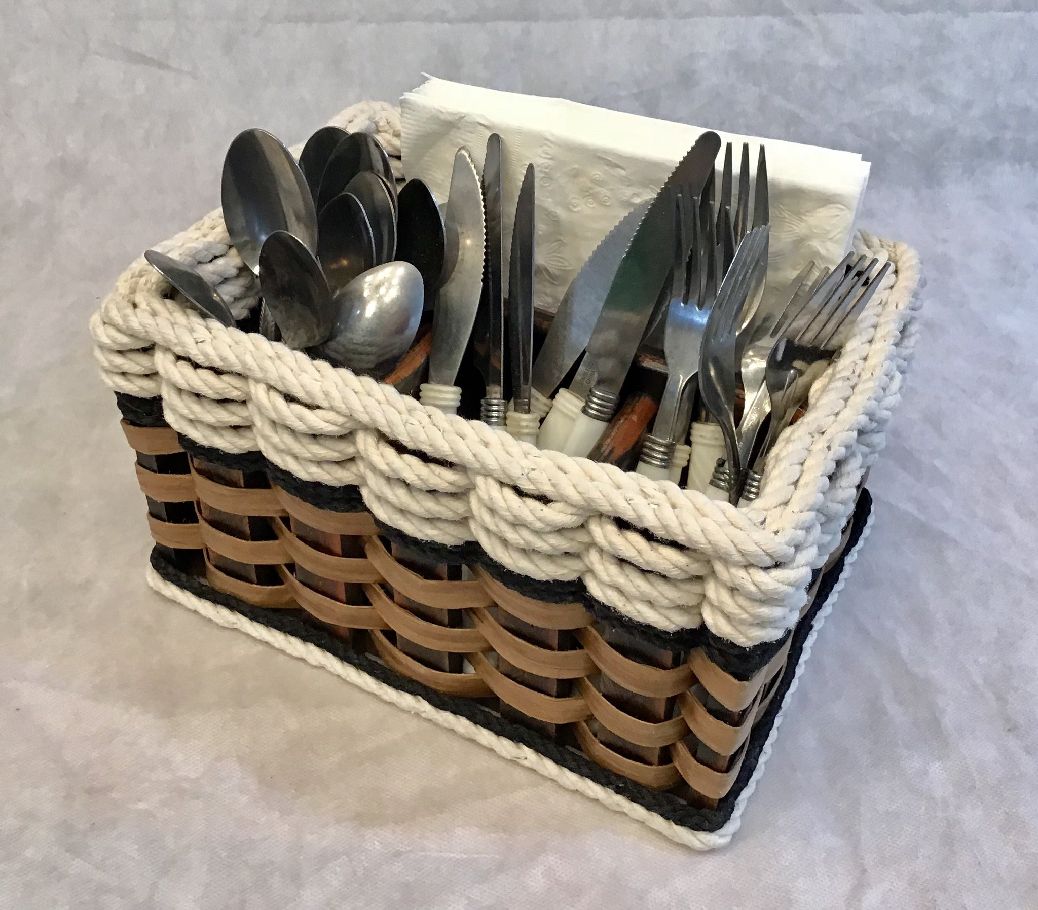 Silverware Basket-Cottage Black