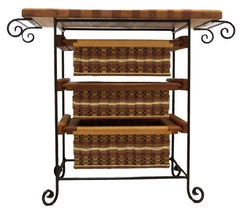 Island--19x36 Three drawer unit with towel bars