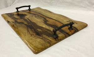 Charcuterie Board w/Black Limba and handles
