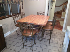 Table--40 x 60 Distressed Mahogany Table