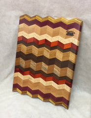 Cutting Board -- Multi-colored Wood Chevron Board