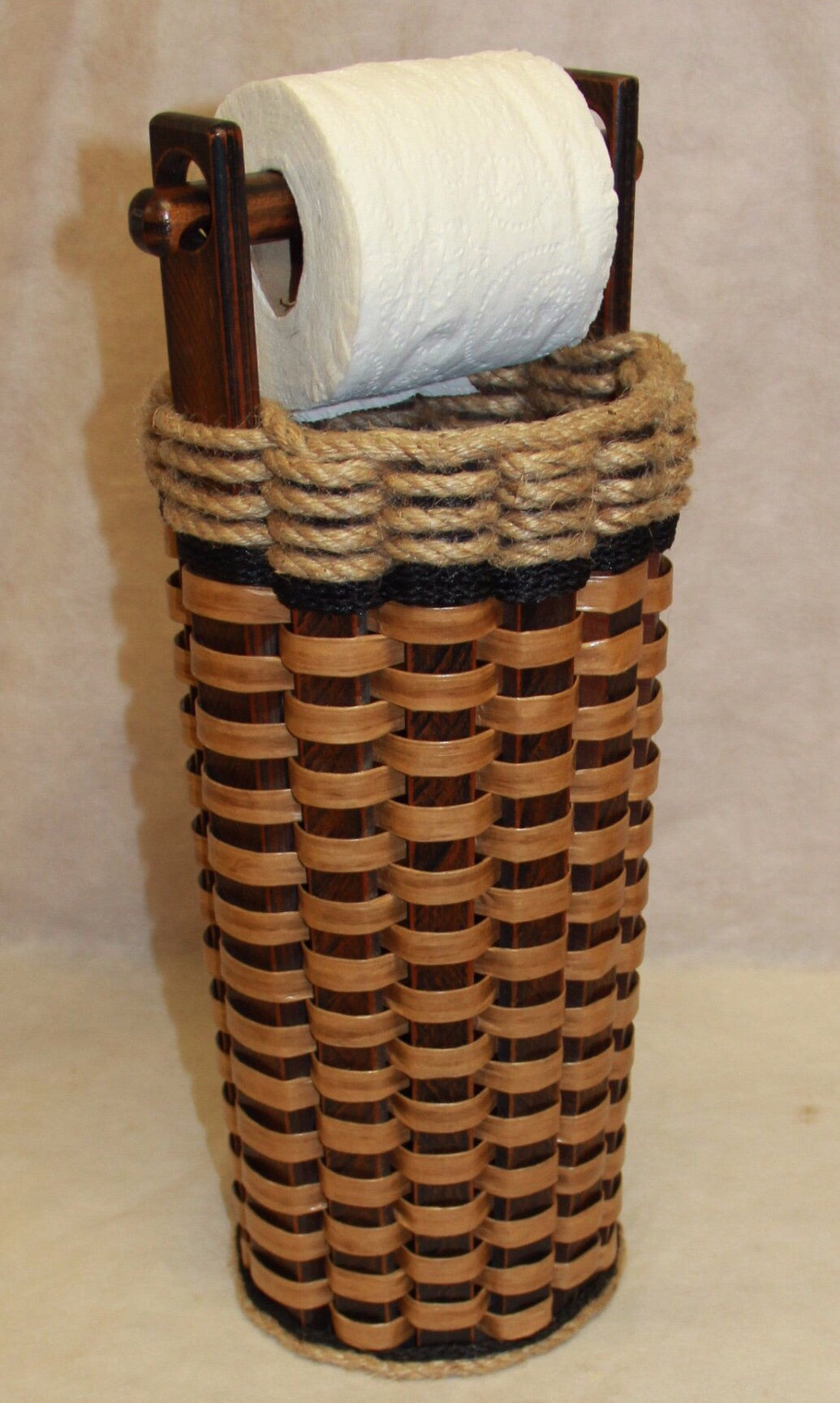 Toilet Paper Basket w/Dowel-Shabby Chic Collection