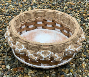 9 inch Lazy Susan Basket-Shabby Chic Collection
