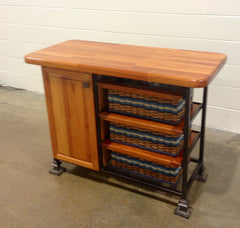 Island--22x48 single door unit w/3basket drawers