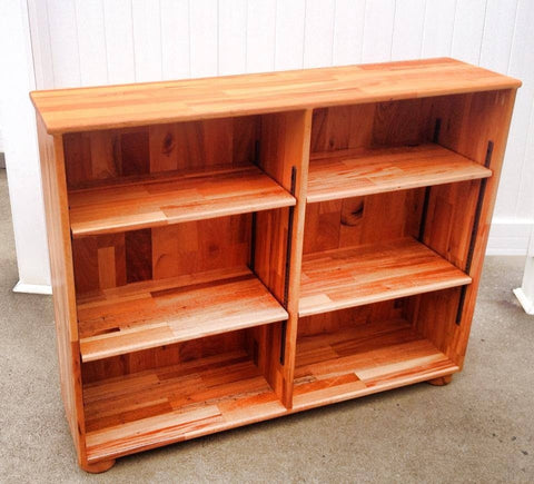 Book Shelf-- 36x48 Solid Mahogany Book Shelf Unit